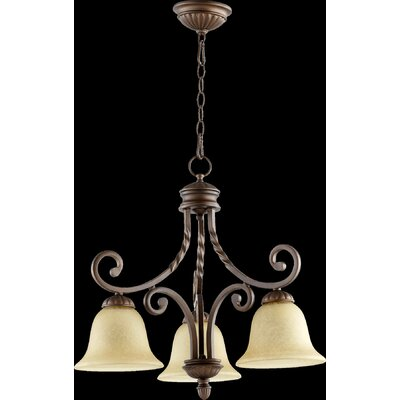 Tribeca 3-Light Shaded Chandelier Finish: Oiled Bronze