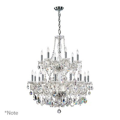 Evgenia 18-Light Crystal Chandelier Color: Cognac