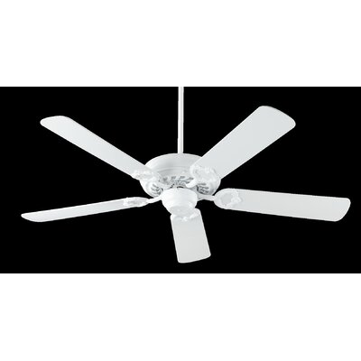 52 Deweese Antik 5-Blade Ceiling Fan Finish: White