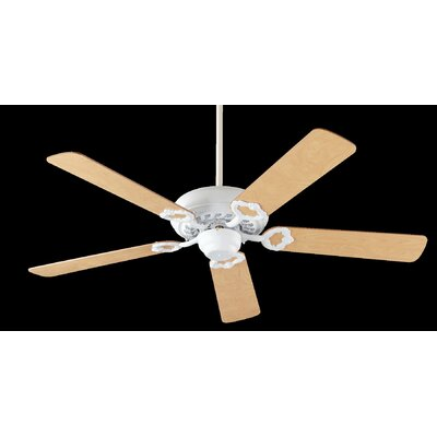 52 Deweese Antik 5-Blade Ceiling Fan Finish: Studio White with Maple Blades