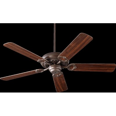 52 Deweese Antik 5-Blade Ceiling Fan Finish: Oiled Bronze with Walnut Blades