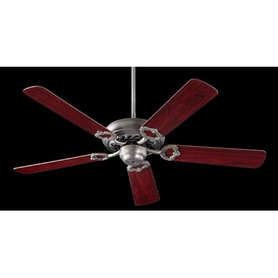 52 Deweese Antik 5-Blade Ceiling Fan Finish: Antique Silver with Rosewood /Walnut Blades