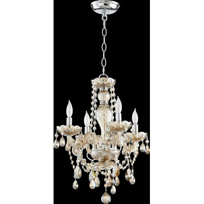Katerina 4-Light Crystal Chandelier
