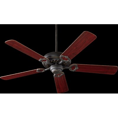 52 Deweese Antik 5-Blade Ceiling Fan Finish: Old World with Rosewood/Walnut Blades