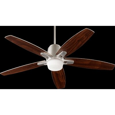 52 Metro 5-Blade Ceiling Fan Finish: Satin Nickel with Walnut Blades