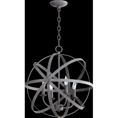 Celeste 4-Light Globe Pendant Finish: Zinc