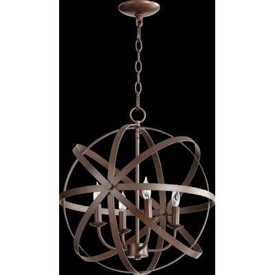 Celeste 4-Light Globe Pendant Finish: Oiled Bronze