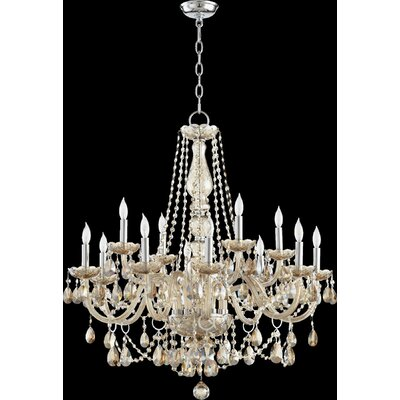 Evgenia 12-Light Crystal Chandelier Color: Cognac