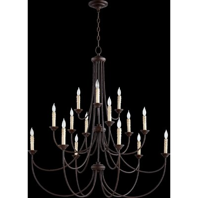 Brooks 15-Light Candle-Style Chandelier Finish: Oiled Bronze
