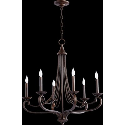 Lariat 6-Light Candle-Style Chandelier