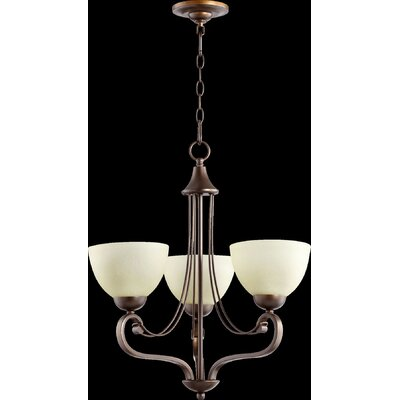 Lariat 3-Light Shaded Chandelier