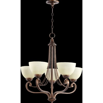 Lariat 5-Light Shaded Chandelier