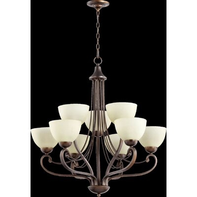 Lariat 9-Light Shaded Chandelier