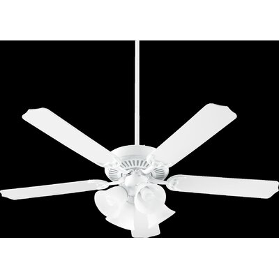 52 Capri VII 5-Blade Ceiling Fan Finish: White