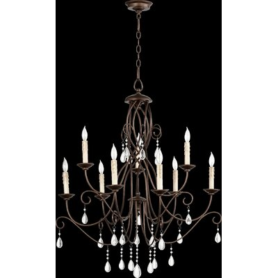 Cilia 9-Light Candle-Style Chandelier Finish: Oiled Bronze