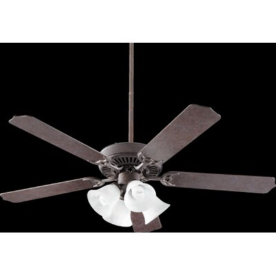 52 Capri VII 5-Blade Ceiling Fan Finish: Toasted Sienna with Walnut Blades