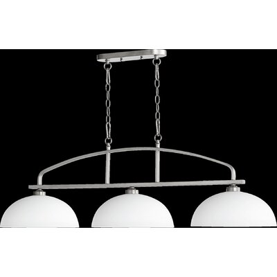 Reyes 3-Light Kitchen Island Pendant Finish: Classic Nickel