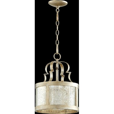 Champlain 1-Light Drum Pendant Finish: Aged Silver Leaf