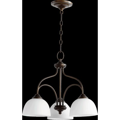 Hewlett Transitional 3-Light Shaded Chandelier
