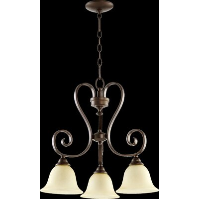 Celesta 3-Light Shaded Chandelier