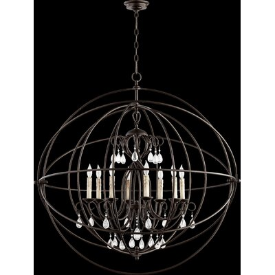 Cilia 8-Light Globe Pendant Finish: Oiled Bronze