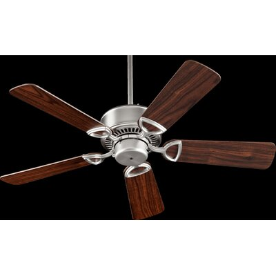 42 Estate 5-Blade Ceiling Fan Finish: Satin Nickel with Walnut Blades