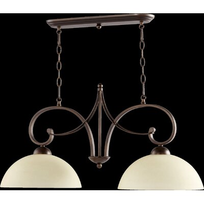 Lariat 2-Light Kitchen Island Pendant