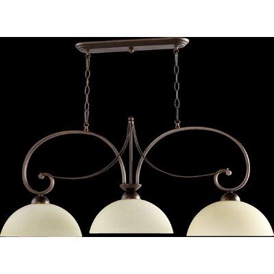 Lariat 3-Light Kitchen Island Pendant