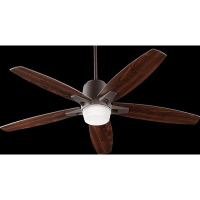 52 Metro 5-Blade Ceiling Fan Finish: Oiled Bronze with Walnut Blades