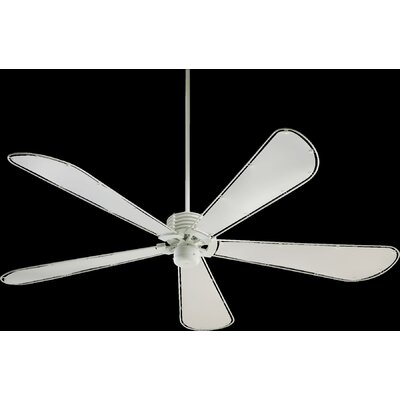 60 Dragonfly 5-Blade Ceiling Fan Finish: Studio White with White Blades