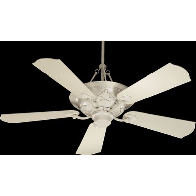 56 Salon 5-Blade Ceiling Fan with Remote Finish: Antique White
