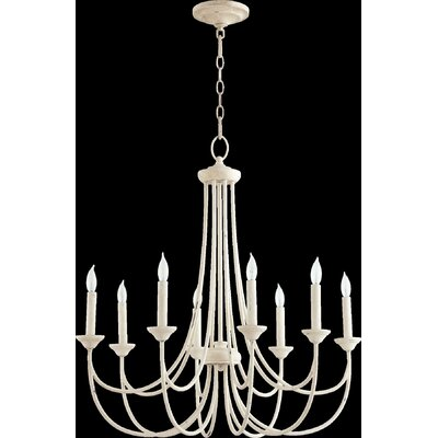 Brooks 8-Light Candle-Style Chandelier Finish: Persian White