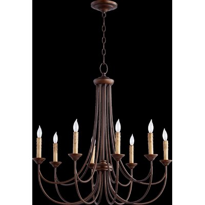 Brooks 8-Light Candle-Style Chandelier Finish: Oiled Bronze