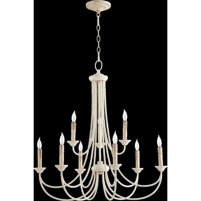 Brooks 9-Light Candle-Style Chandelier Finish: Persian White