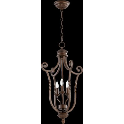 Tribeca Foyer Pendant Size: Medium, Finish: Old World