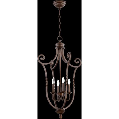 Tribeca Foyer Pendant Size: Medium, Finish: Oiled Bronze