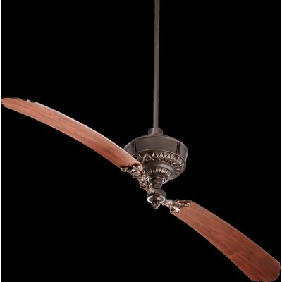 68 Turner 2-Blade Ceiling Fan Finish: Oiled Bronze with Distressed Vintage Walnut Blades