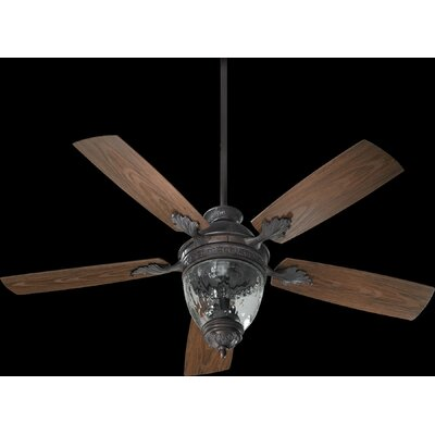 52 Georgia 5-Blade Patio Ceiling Fan Finish: Toasted Sienna with Walnut Blades