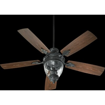 52 Georgia 5-Blade Patio Ceiling Fan Finish: Old World with Walnut Blades