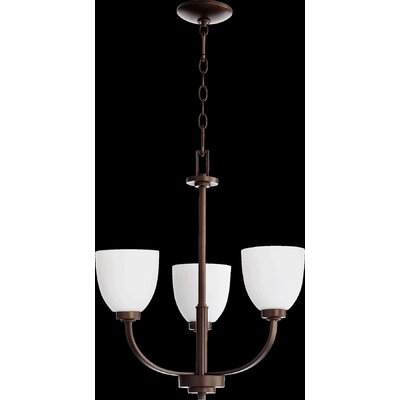 Reyes 3-Light Shaded Chandelier Finish: Oiled Bronze