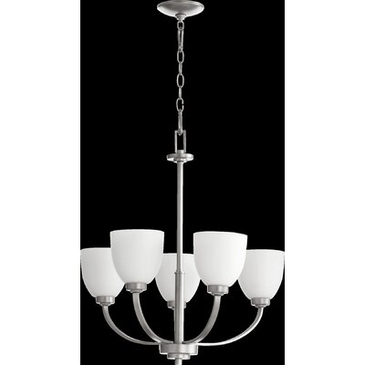 Reyes 5-Light Shaded Chandelier Finish: Classic Nickel