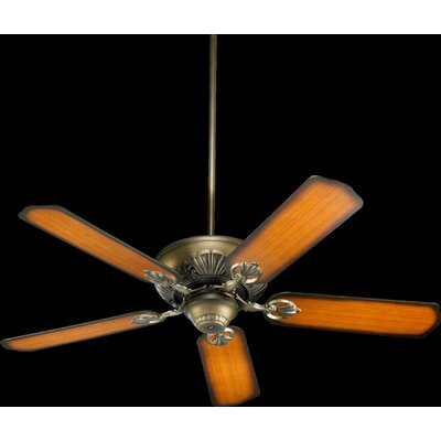 52 Chateaux 5-Blade Ceiling Fan Finish: Antique Flemish with Pecan Blades