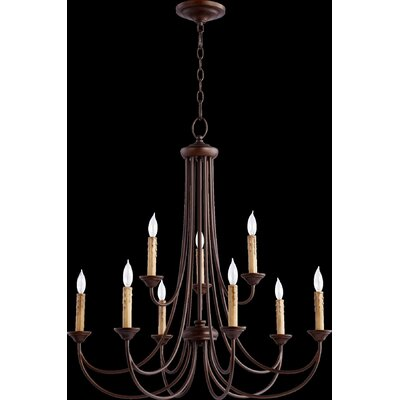 Brooks 9-Light Candle-Style Chandelier Finish: Oiled Bronze