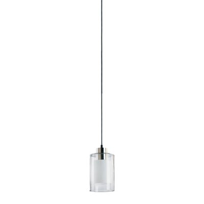 Burham 1-Light Mini Pendant Finish: Clear Ice Glass