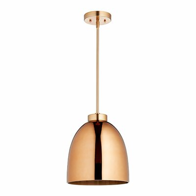1-Light Mini Pendant Finish: Satin Copper/Copper