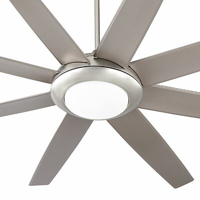 70 Modesto 8 Blade Ceiling Fan Finish: Satin Nickel
