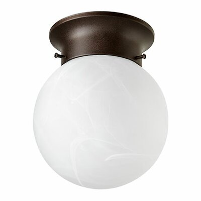 Faux Alab Ball 1-Light Semi Flush Mount