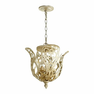 Le Monde 4-Light Mini Chandelier Finish: Vintage Gold Leaf