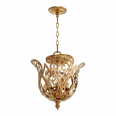 Le Monde 4-Light Mini Chandelier Finish: Aged Silver Leaf
