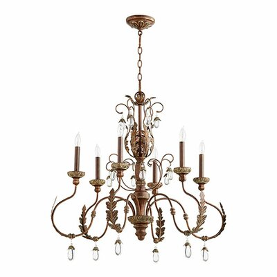 Venice 6-Light Candle-Style Chandelier Finish: Vintage Copper